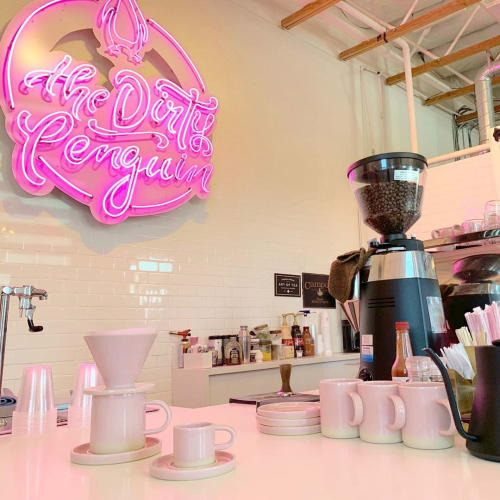 Cups by Philip Kupferschmidt seen at The Dirty Penguin Coffee Co., Chino Hills - Pink Mug
