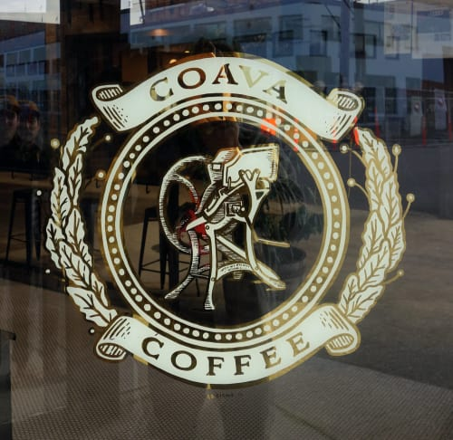 Signage by J&S Signs seen at Coava Coffee Roasters | Public Brew Bar & Roastery, Portland - Coava