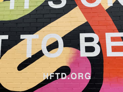 Street Murals by Olive Moya seen at 1744 E Evans Ave, Denver - It's Ok Not To Be Ok