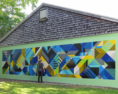 Murals by MATT W. MOORE seen at Private Residence, Portland - MWM Isometric.