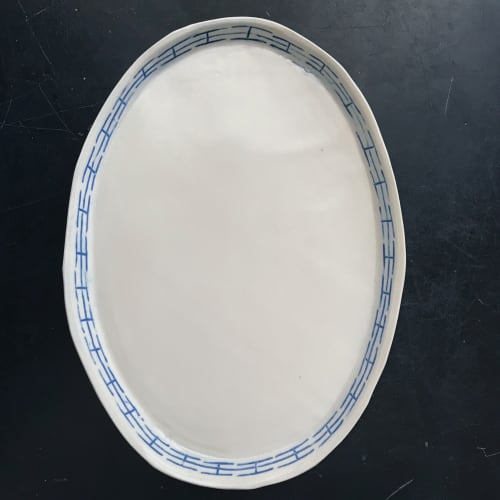 Ceramic Plates by Monsoon Pottery seen at Private Residence - West Town, Chicago, Chicago - Yaowarat Oval Platter