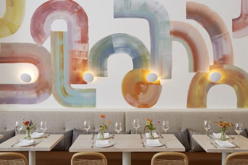 Murals by Leanne Shapton seen at Il Fiorista, New York - Wall Mural