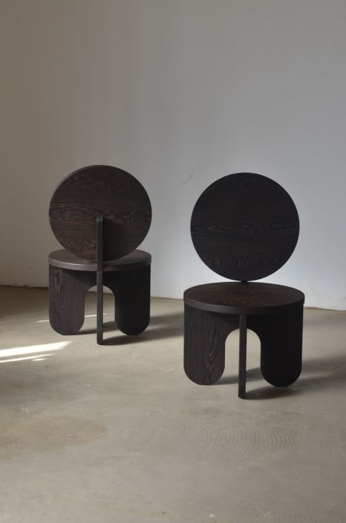 Chairs by Owl seen at Private Residence - Barcelona, Spain, Barcelona - Wengue Lounge Chairs