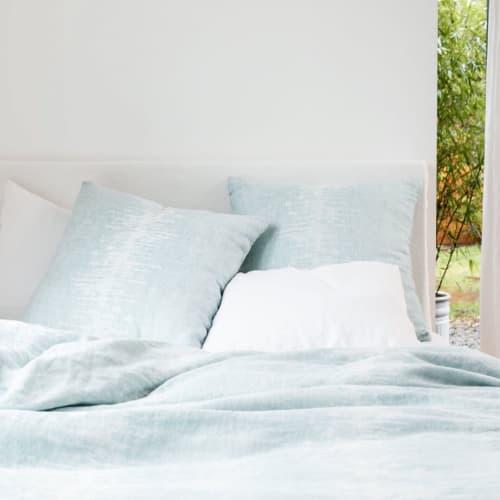 Linens & Bedding by Rough Linen seen at Private Residence, San Rafael - Echo Linen Bedding