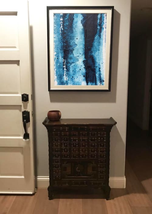 Paintings by Kathleen Rhee seen at Private Residence, Laguna Niguel - Abstract Print Series 'Water Stains'