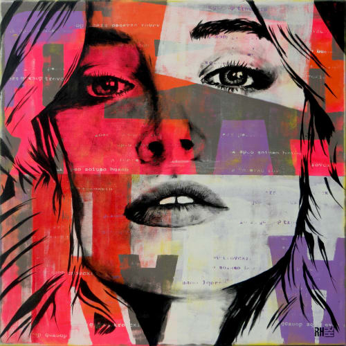 Paintings by Ronald Hunter seen at Roxier Art Gallery, Rotterdam - Pop Song