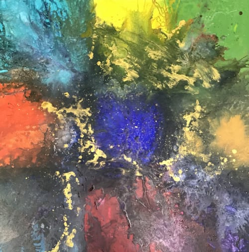 """Paintings by Michelle B. Noah   Current Artist Workshop seen at Current Artist Workshop, Garland - """"Golden Mean"""""""