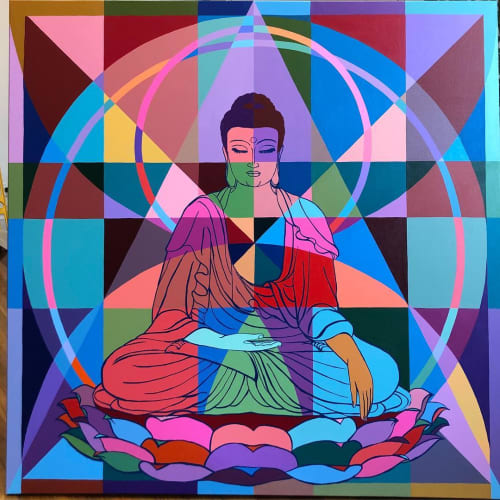 Paintings by C. FInley seen at New York, New York - Buddha