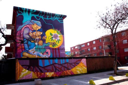 Murals by ShetuKiltra seen at Museo Cielo Abierto, San Miguel - Ascendencia