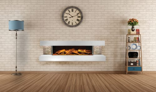 Fireplaces by Electric Modern seen at Private Home, Middleton - Compton 1000 Electric Fireplace Suite