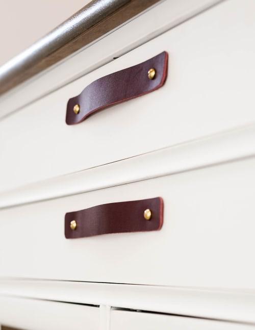 Hardware by Keyaiira | leather + fiber seen at Private Residence, Santa Rosa - Leather Handle