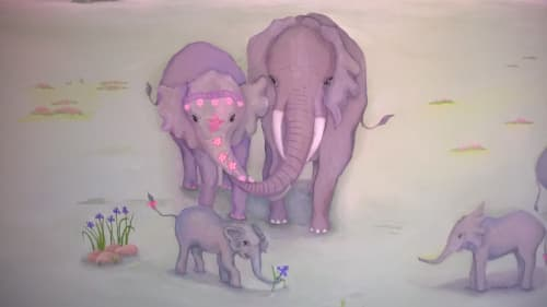 Murals by Beth Shadur seen at Private Residence, Oak Brook - Mural for children's room in private