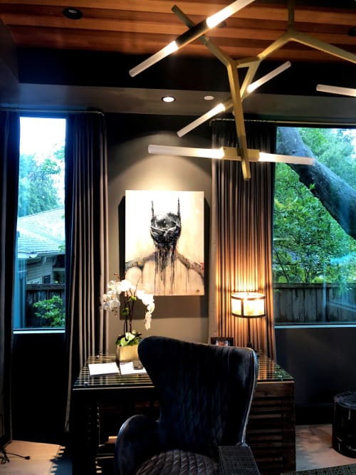 Paintings by Nickhartist seen at Private Residence, Dallas - Batman