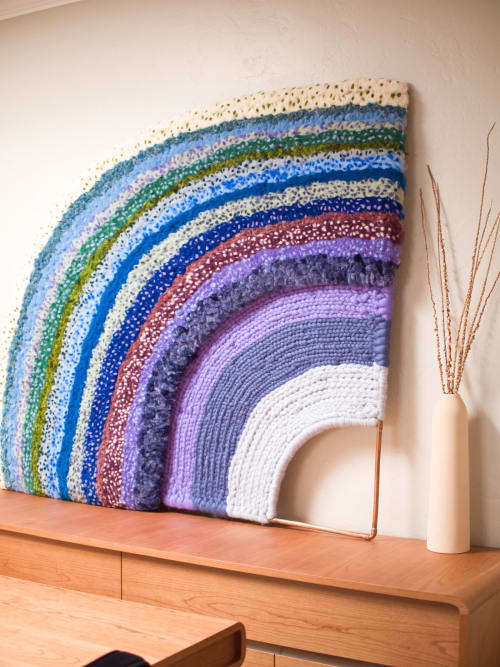 Wall Hangings by Yunan Ma Fiber Art seen at Private Residence, San Francisco - Freedome 3, 2020