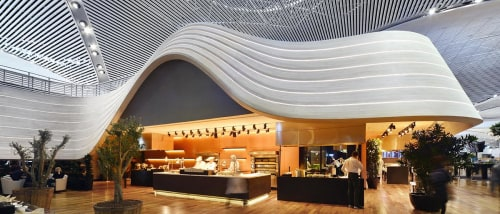 Wall Hangings by Mikodam Design seen at Istanbul Airport - Turkish Airlines Lounges in Istanbul Airport