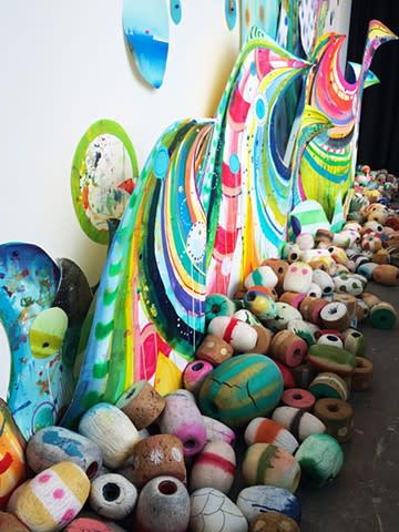 """Art & Wall Decor by Liz Tran seen at Private Residence, Seattle - """"Endless Wave"""""""