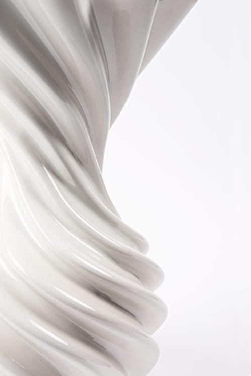 Vases & Vessels by nono seen at Mexico City, Mexico City - Decorative Ceramic Vase with White Glaze, Miss Jolie by Joel Escalona