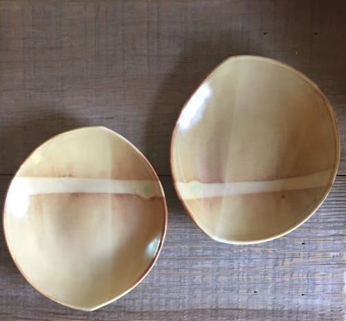 Ceramic Plates by Paula West Pottery LLC seen at Friday Harbor House, Friday Harbor - Slab Built Plates