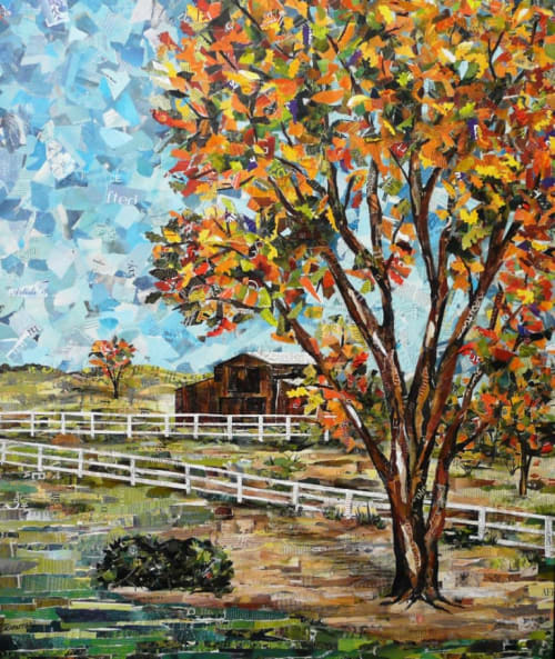 Paintings by Eileen Downes seen at Private Residence, Placerville - Autumn Colors at the Ranch