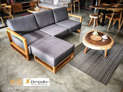 Couches & Sofas by JCBespoke Furniture seen at Private Residence - PARGON L-Shape Teak Sofa