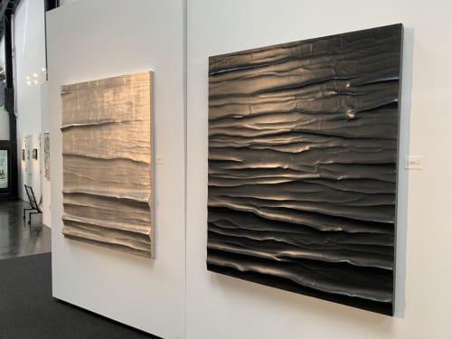 Paintings by Roberta Ahrens Studio seen at Paul Mahder Gallery, Healdsburg - Ocean Beach and Black Water
