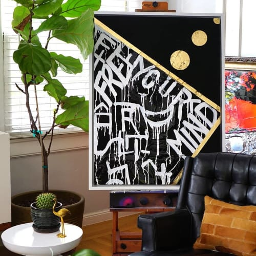 Paintings by Nickhartist seen at Private Residence, Sacramento - Free Your Mind
