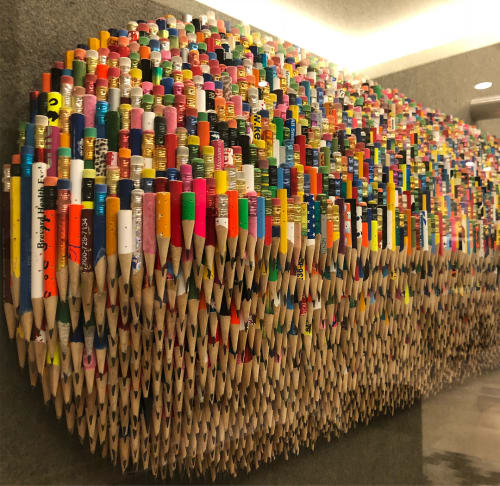 Sculptures by James Florschutz Studio seen at AC Hotel by Marriott Portland Downtown, OR, Portland - Number 2 Pencil Pixels