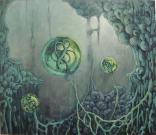 Webs and Spheres | Paintings by Sokara Young | Coding Dojo Seattle in Bellevue