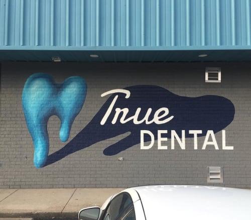 "Murals by Colin Kettler seen at True Dental Group, Independence - ""True Dental"" mural"