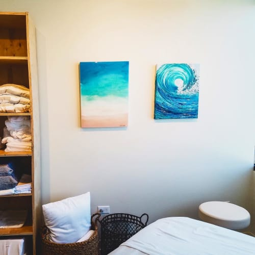 Paintings by Sarah Caudle seen at Helpful Massage and Bodyworks, Kailua - Carefree