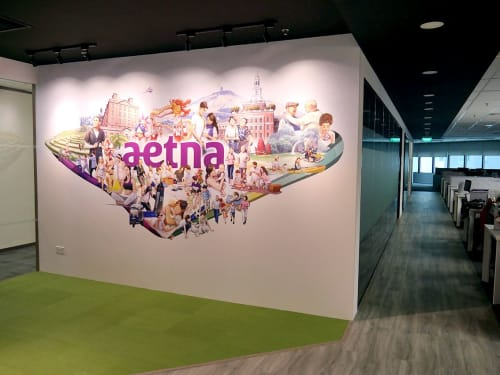 Wallpaper by Lab Six Five seen at Aetna, Singapore - Aetna Singapore