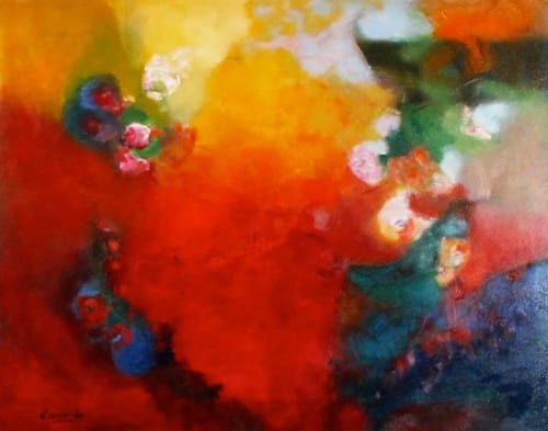 Paintings by Cecilia Arrospide at Private Residence - Lima, Peru, Lima - JOY II