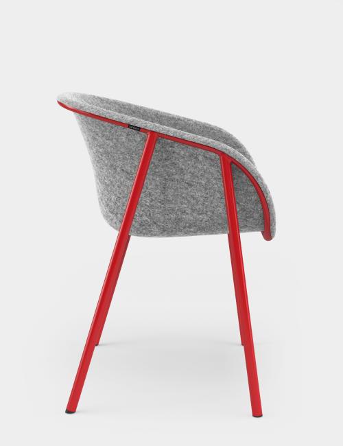 Chairs by De Vorm seen at Campus Madrid Oficinas, Madrid - LJ 1 PET Felt Stack Armchair