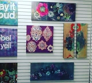 Paintings by Colleen Sandland Art seen at Ross Dress for Less, Los Angeles - Floral Paintings