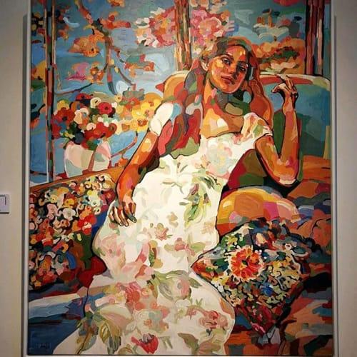 Paintings by Noemi Safir Artist - In Love Mood, 140/120 cm, painting by Noemi Safir