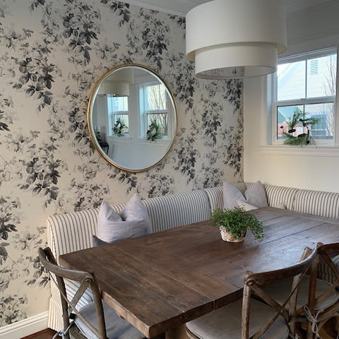 Wallpaper by WallTawk seen at Private Residence, Denver - London Rose