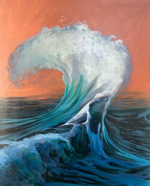 Paintings by Lindsey Millikan (Milli) seen at San Francisco, San Francisco - Ocean #21