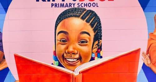 Murals by artofYungai seen at KIPP Soul Primary, Atlanta - School Mural