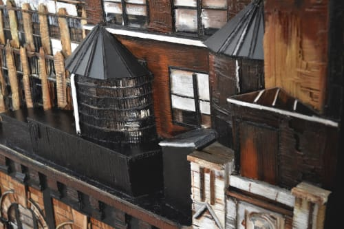 "Paintings by Heather Kocsis seen at Private Residence, New York - ""The Need for Old Buildings"""