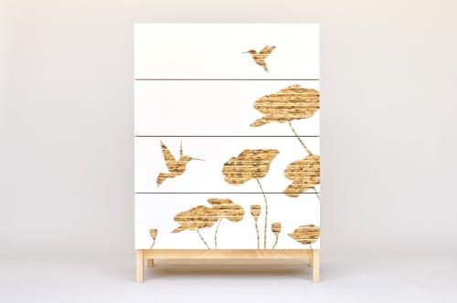 Hummingbird Graphic Tall Dresser   Furniture by Iannone Design