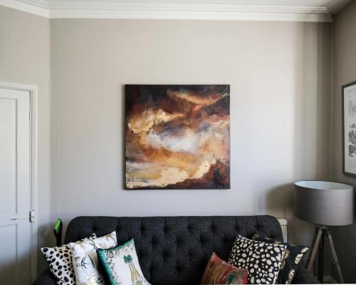 Paintings by Jessica Dunn Art seen at Private Residence, London - Heaven on The Ground, oil painting