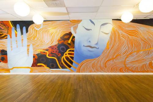 Murals by Emily Herr (HerrSuite) seen at Be Here Now Yoga Healing & Wellness, Washington - BHNY Shiva