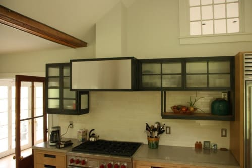 Furniture by Michael Daniel Metal Design seen at Private Residence, Old Lyme - Custom Metal Kitchen Cabinets