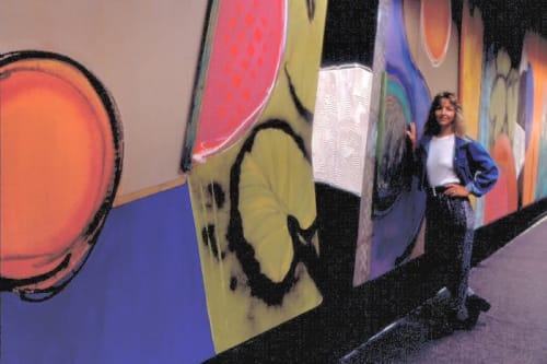 Murals by Debra Yates seen at Miami International Airport, Miami - Miami International Airport Barricade Wall