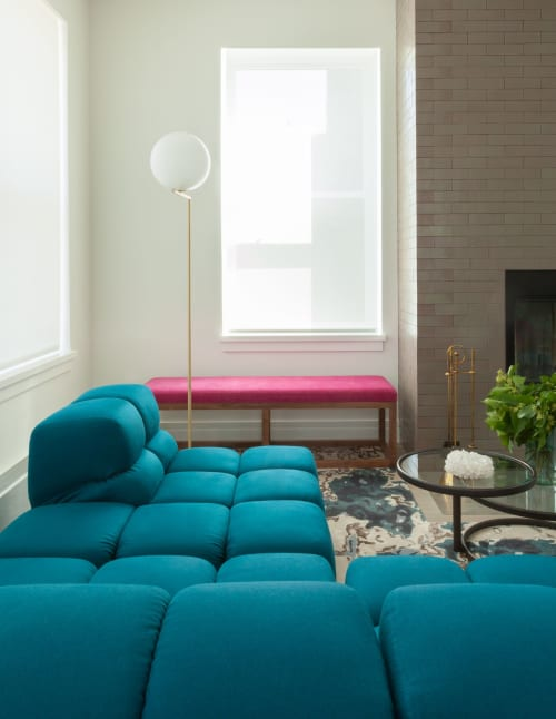 Benches & Ottomans by FTF Design Studio seen at Private Residence, Chelsea, New York - Bench