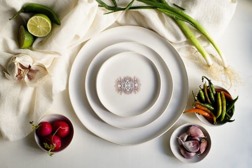 Ceramic Plates by Adarbakar seen at Private Residence, Barcelona - Stoneware plate