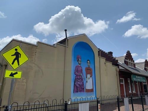 Street Murals by Leigh Ann Culver seen at Marietta Square Market, Marietta - Girls Mural