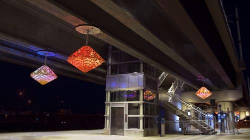 Public Sculptures by Creative Machines seen at Aurora, Aurora - Stories Interweave