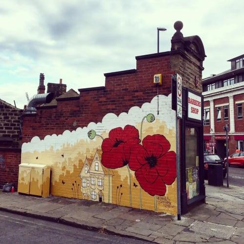 Street Murals by Ursula Xanthe Young seen at Leeds, Leeds - Poppy Mural