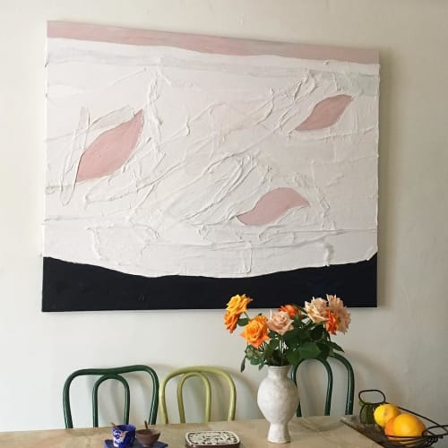 Paintings by Sara Marlowe Hall seen at Echo Park Lake, Los Angeles - Abstract Painting